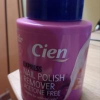Acetone Free per unghie, favoloso. Cien